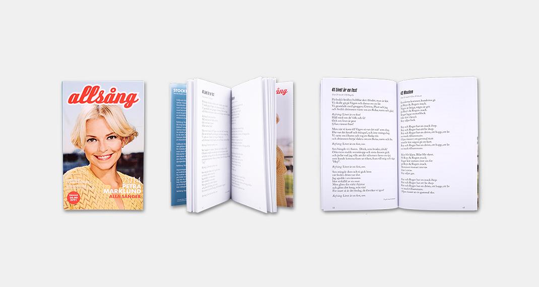 Smidigt format, god läsbarhet och förseglade läppar är tre av kraven på Allsångshäftet.